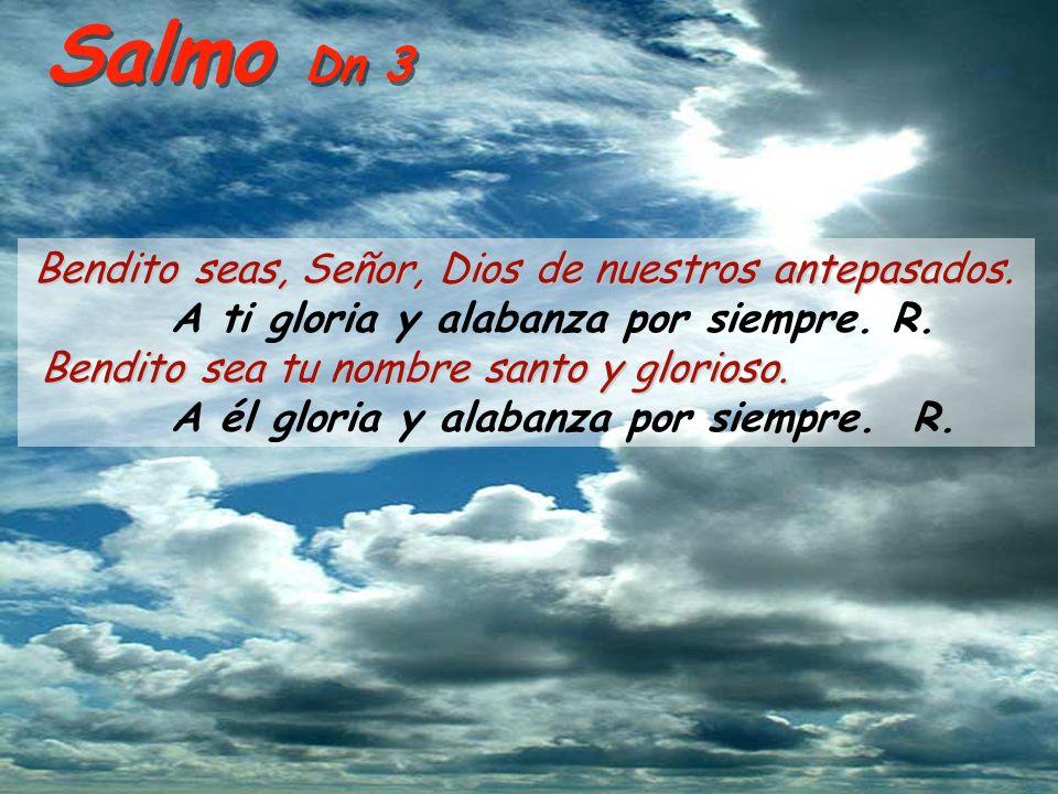 Salmo Dn 3 Bendito seas, Señor, Dios de nuestros antepasados.