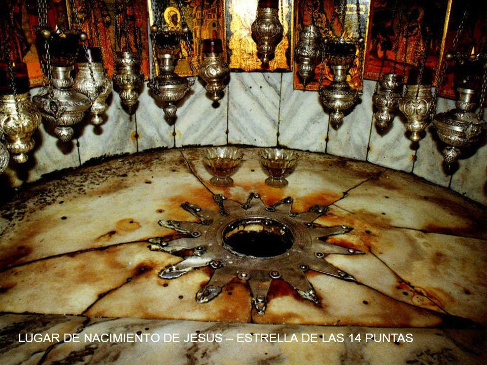 LUGAR DE NACIMIENTO DE JESUS – ESTRELLA DE LAS 14 PUNTAS