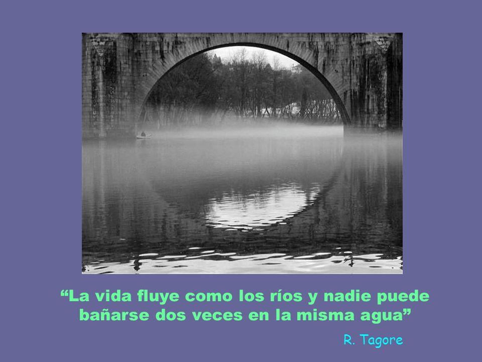 La vida fluye como los ríos y nadie puede bañarse dos veces en la misma agua R. Tagore