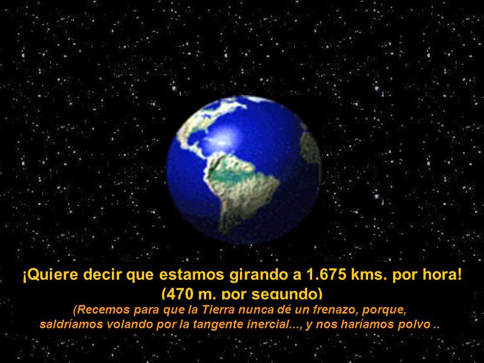 La tierra tarda 24 hs. para completar una vuelta... 40.192 24 = 1.674,67
