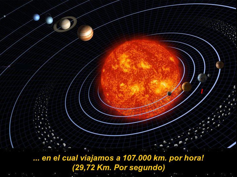 ... sin contar el movimiento de traslación ( El giro en torno del Sol, por 365,26 días) Tierra