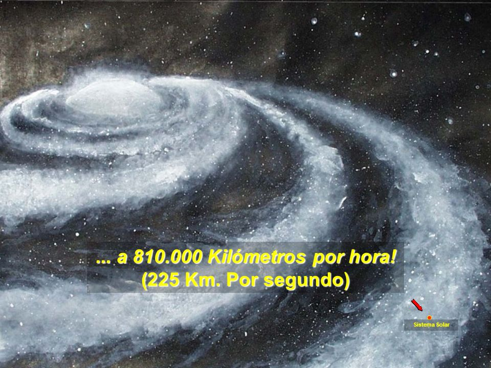 Eso no es nada, comparado con la rotación galáctica, girando en una imensidad de sistemas estelares