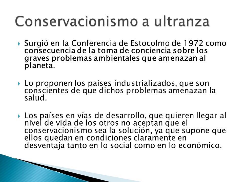 Surgió en la Conferencia de Estocolmo de 1972 como consecuencia de la toma de conciencia sobre los graves problemas ambientales que amenazan al planet
