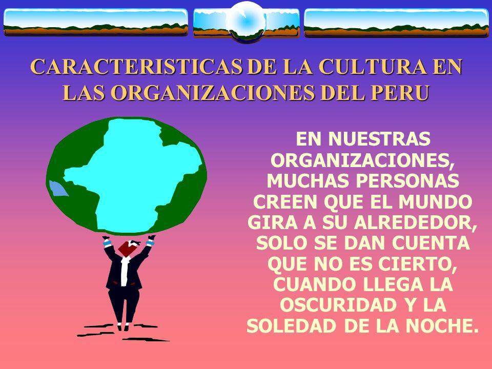 CARACTERISTICAS DE LA CULTURA EN LAS ORGANIZACIONES DEL PERU SIEMPRE BUSCAMOS EL ÉXITO EN TODAS PARTES, Y MUCHAS VECES NO LO LOGRAMOS.