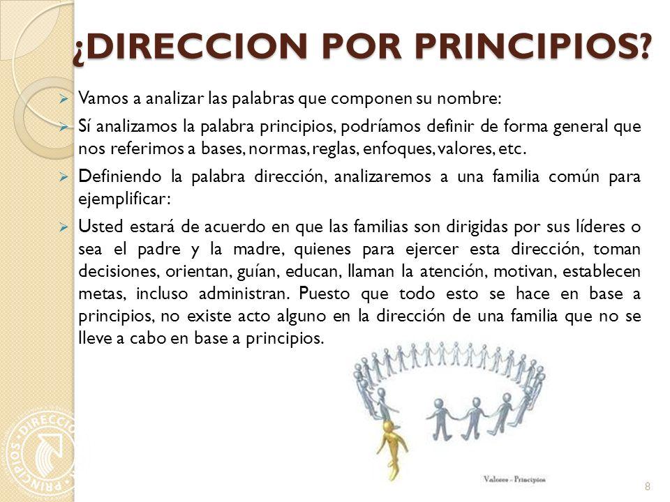¿DIRECCION POR PRINCIPIOS.