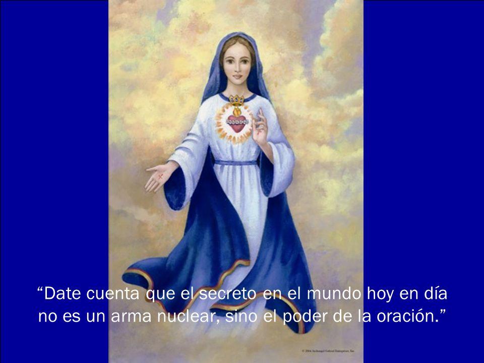 Un Ave María rezado con un corazón amoroso, lleva consigo el poder de convertir un alma, de detener una guerra, de liberar un alma del purgatorio, de