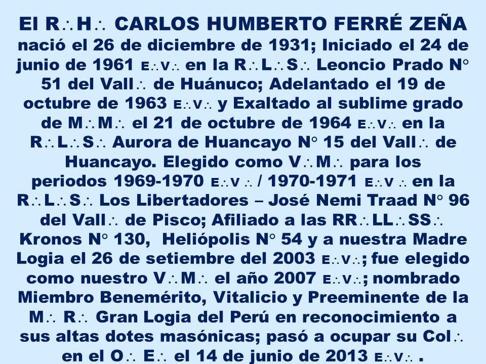 R H CARLOS HUMBERTO FERRÉ ZEÑA: Descanza en Paz y que del G A D U goces.