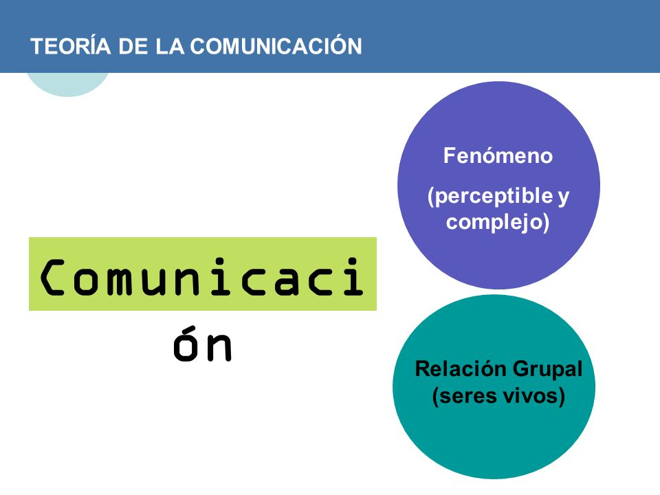 TEORÍA DE LA COMUNICACIÓN Comunic ar Poner en común.