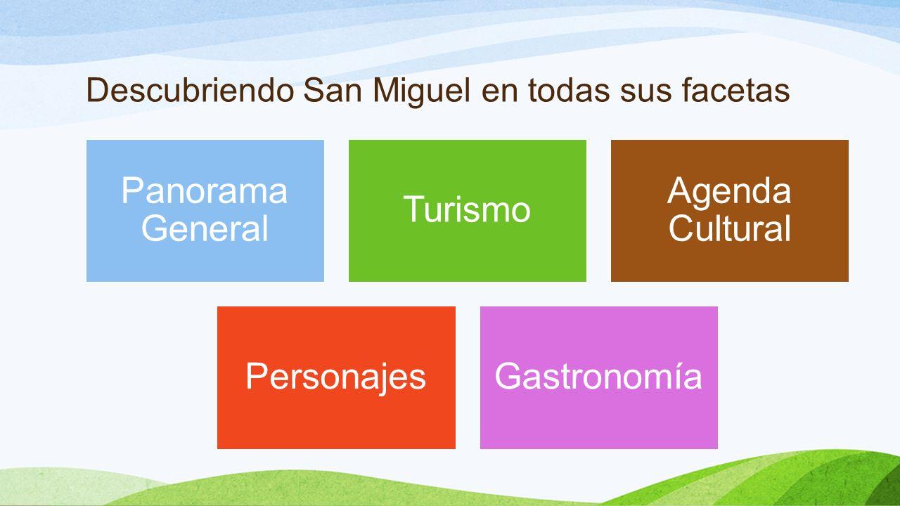 Descubriendo San Miguel en todas sus facetas Panorama General Turismo Agenda Cultural PersonajesGastronomía