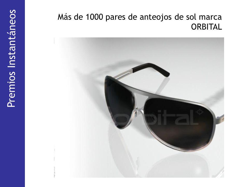 Más de 1000 pares de anteojos de sol marca ORBITAL Premios Instantáneos