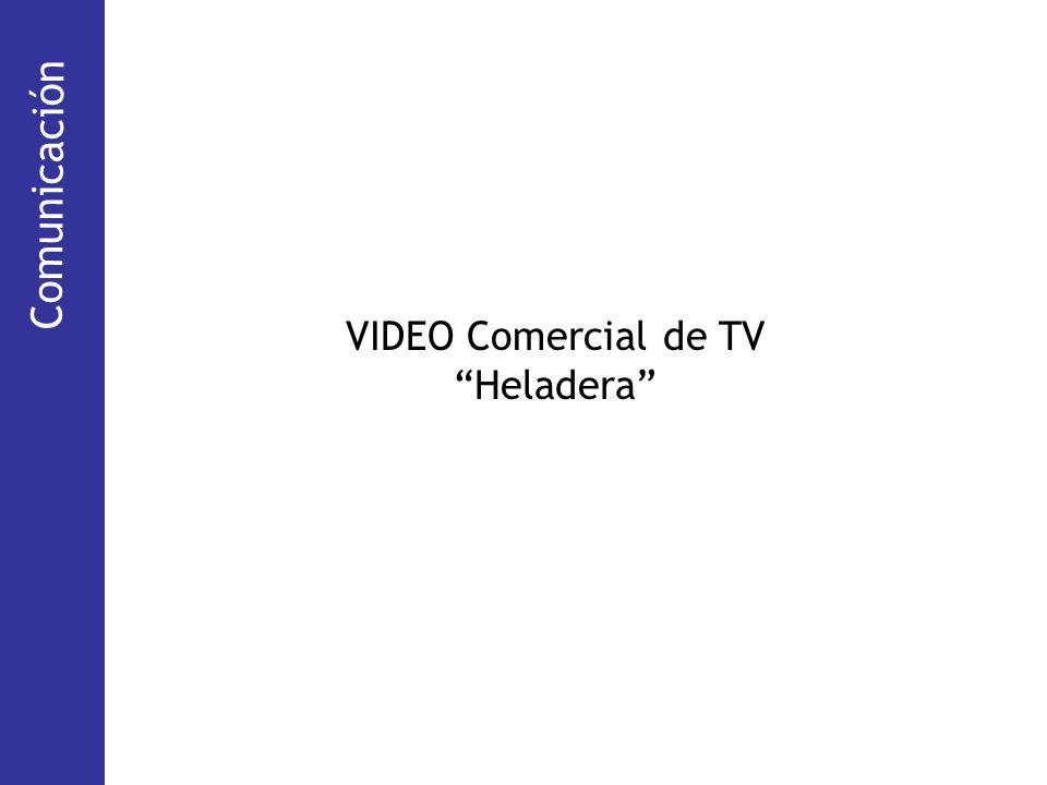 Comunicación (TV abierta y cable) VIDEO Comercial de TV Heladera Comunicación