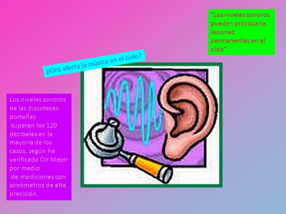 El daño auditivo es privativo.