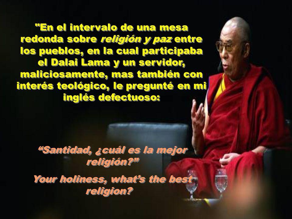 Breve diálogo entre el teólogo brasileño Leonardo Boff y el Dalai Lama.
