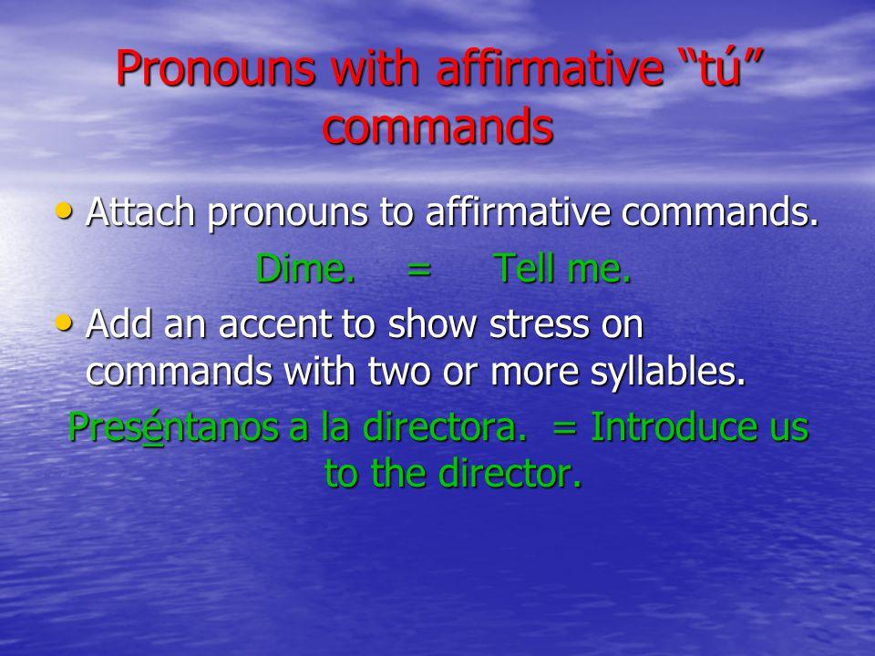 Negative tú commands, p.