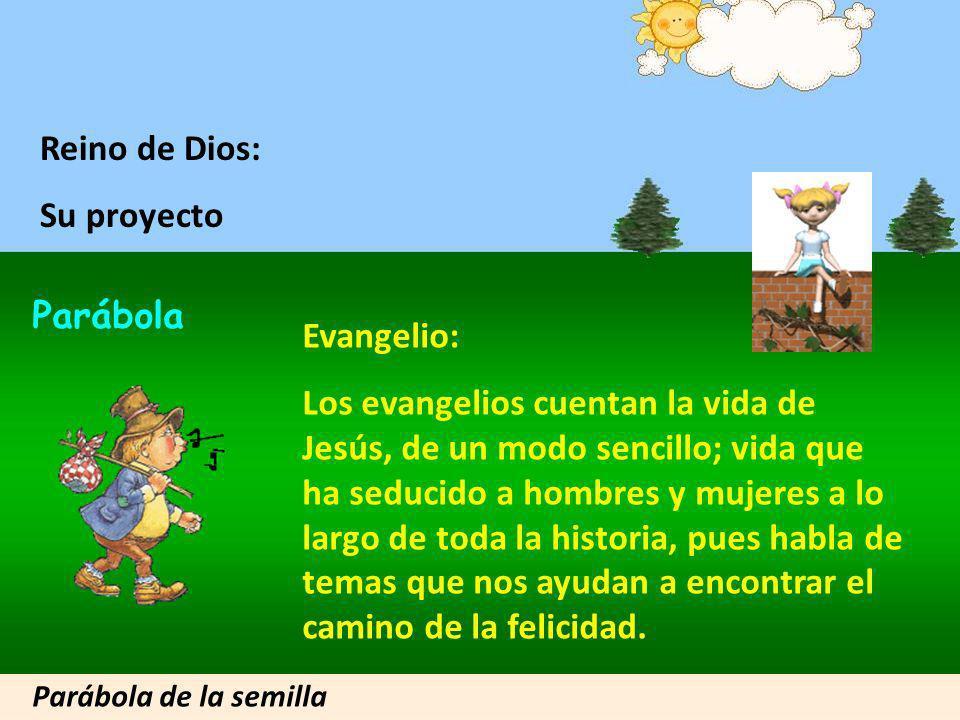 Hola, Jóvenes, les voy a presentar... Parábola del Reino de Dios, Del Proyecto de Dios Clic para avanzar Hola, yo les voy a contar una parábola muy br