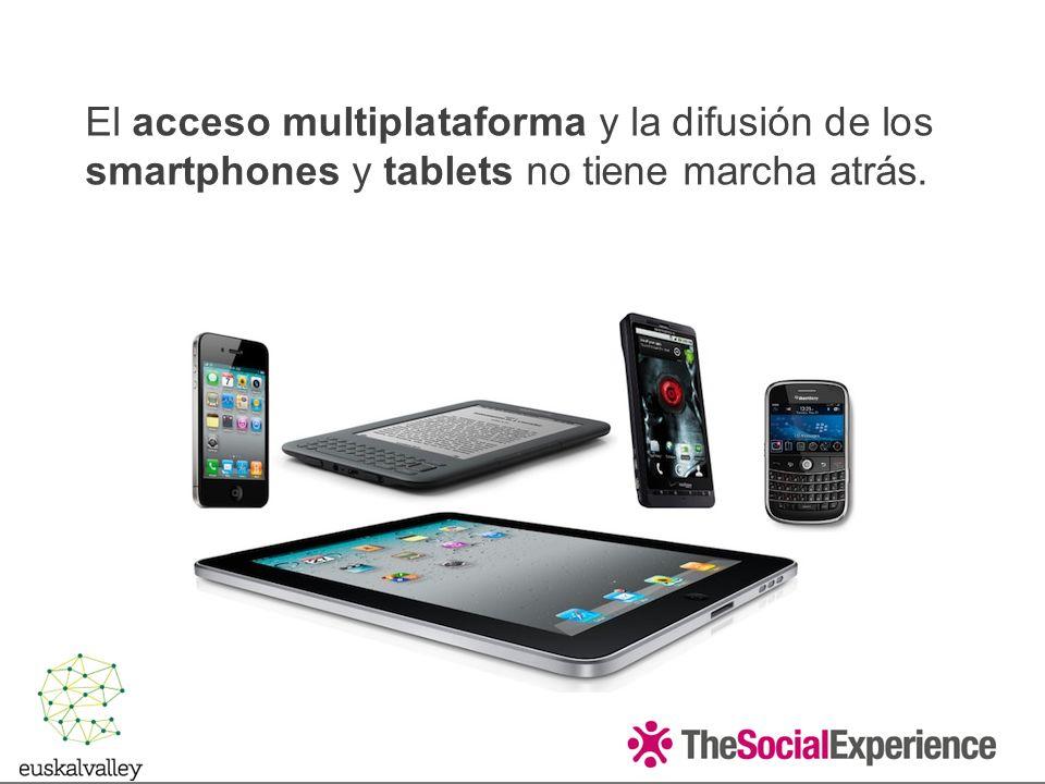 El acceso multiplataforma y la difusión de los smartphones y tablets no tiene marcha atrás.