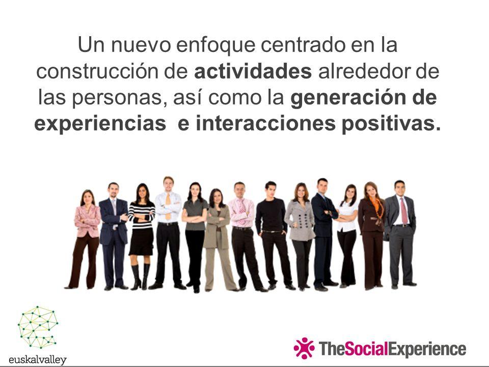 Un nuevo enfoque centrado en la construcción de actividades alrededor de las personas, así como la generación de experiencias e interacciones positivas.