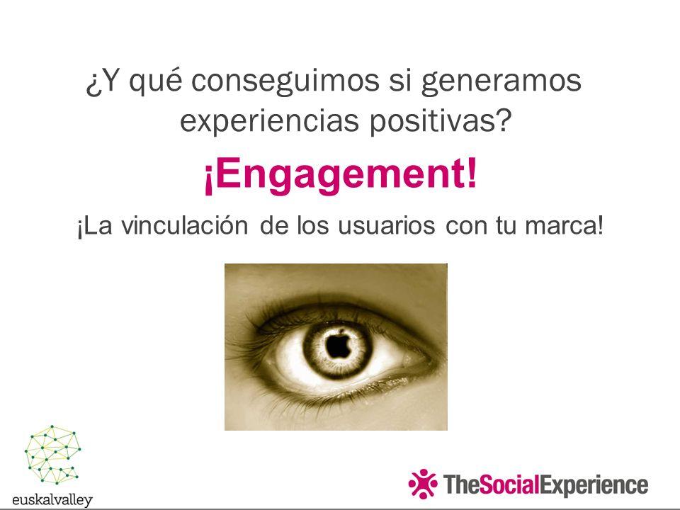 ¡Engagement.¡La vinculación de los usuarios con tu marca.