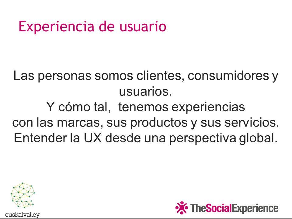 Las personas somos clientes, consumidores y usuarios.