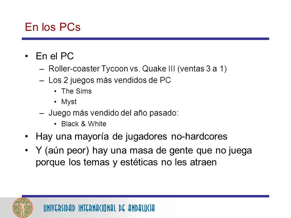 En los PCs En el PC –Roller-coaster Tycoon vs.