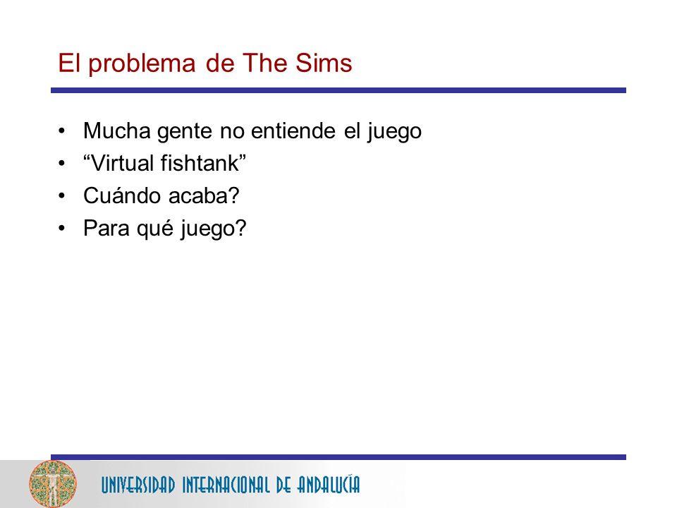 El problema de The Sims Mucha gente no entiende el juego Virtual fishtank Cuándo acaba.