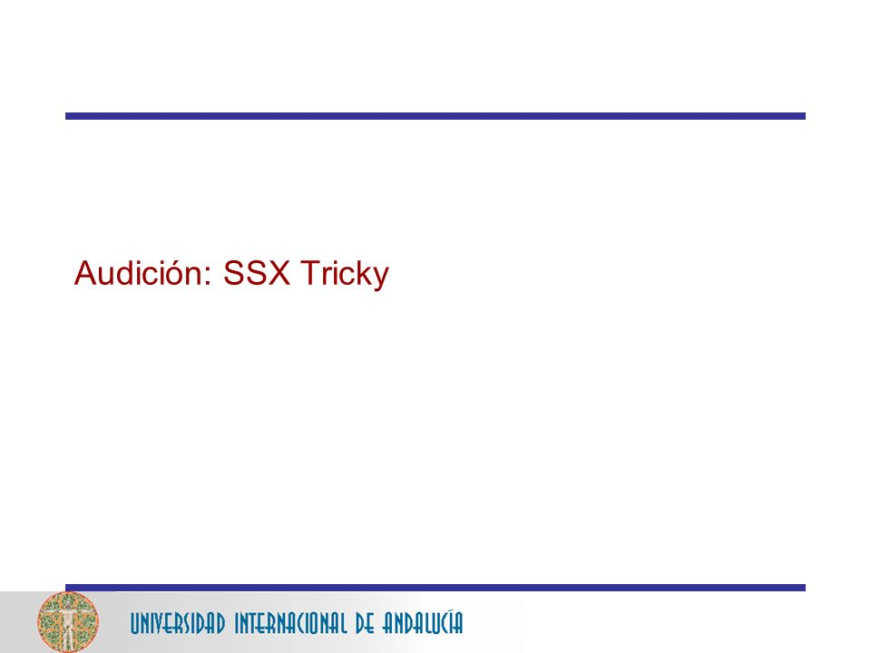 Audición: SSX Tricky