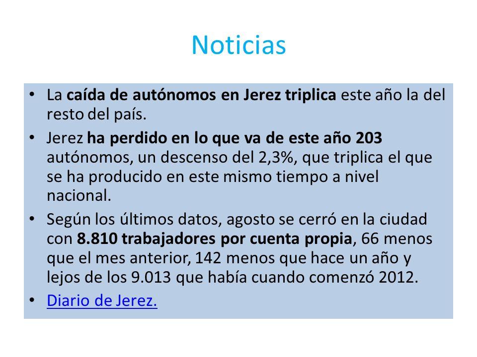 Noticias La caída de autónomos en Jerez triplica este año la del resto del país. Jerez ha perdido en lo que va de este año 203 autónomos, un descenso