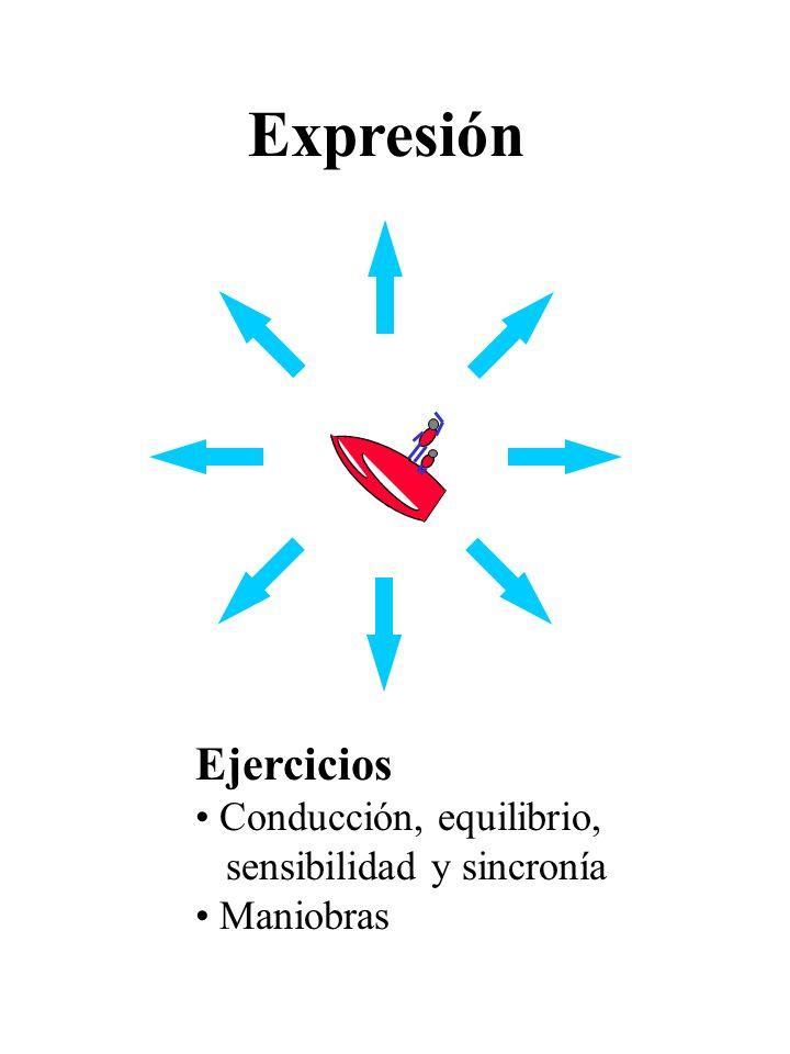 Ejercicios Conducción, equilibrio, sensibilidad y sincronía Maniobras Expresión