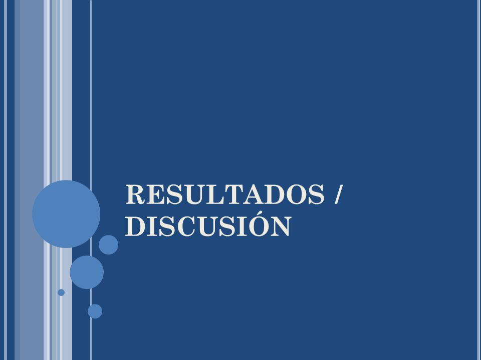 RESULTADOS / DISCUSIÓN