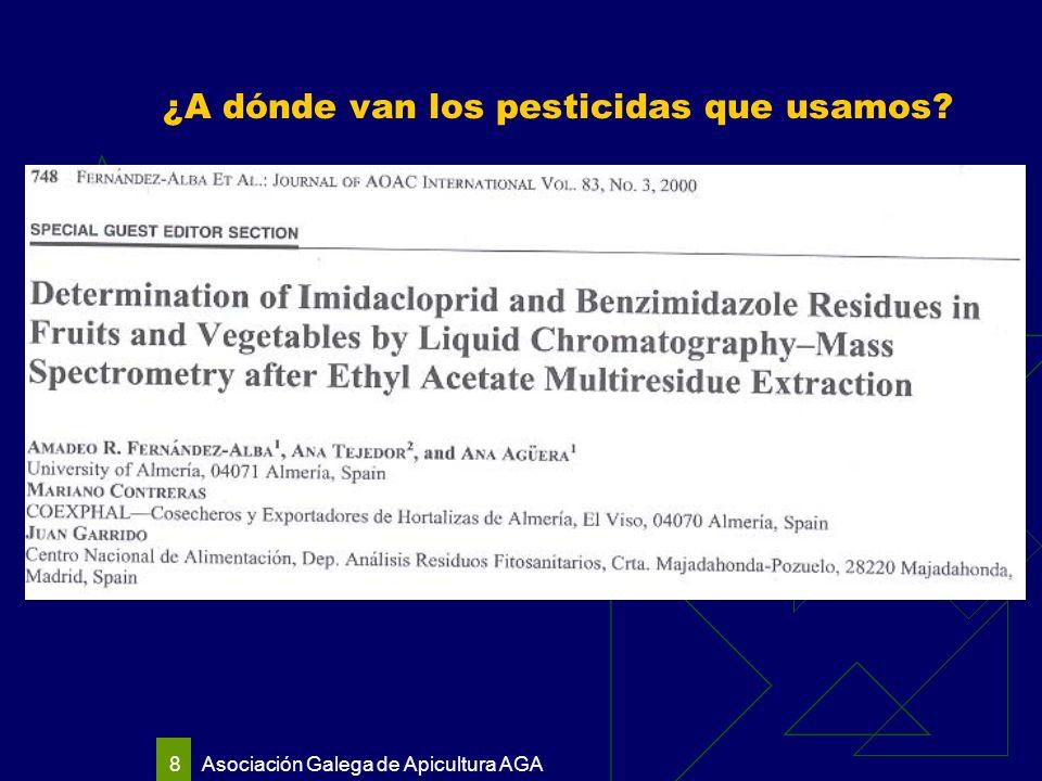Asociación Galega de Apicultura AGA 8 ¿A dónde van los pesticidas que usamos