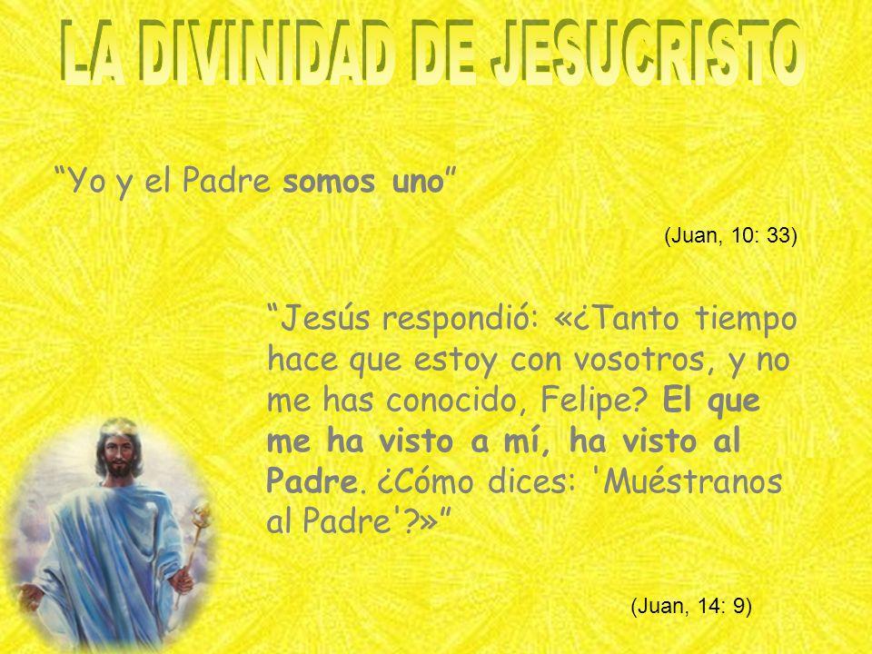 Yo y el Padre somos uno Jesús respondió: «¿Tanto tiempo hace que estoy con vosotros, y no me has conocido, Felipe.