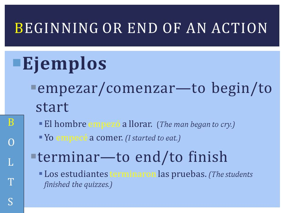 Ejemplos Remember we use the verb TENER to talk about age.