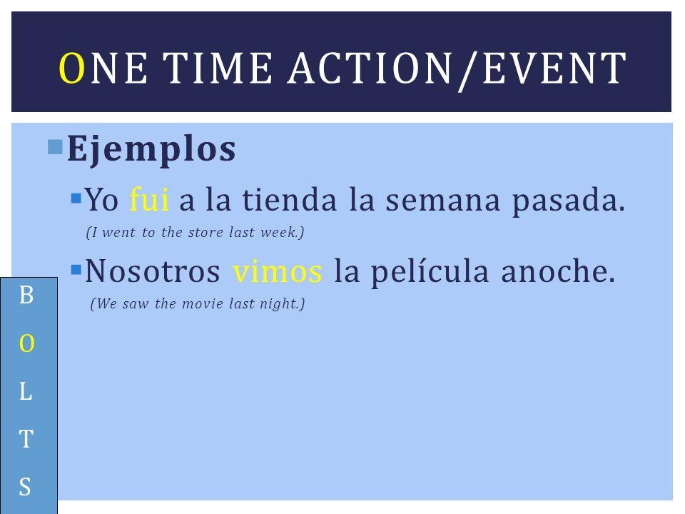 Ejemplos Eran las dos cuando llegamos.It was 2:00 when we arrived.