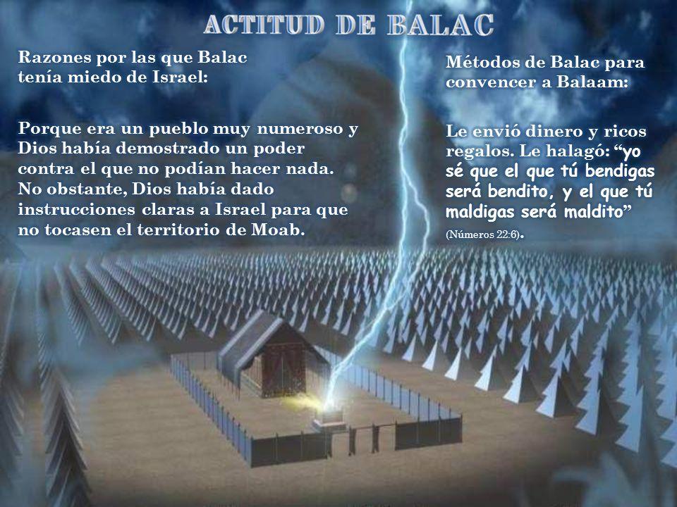 Balac, temeroso de ser atacado por Israel, se alió con los ancianos de Madián para hacer venir al famoso profeta Balaam.