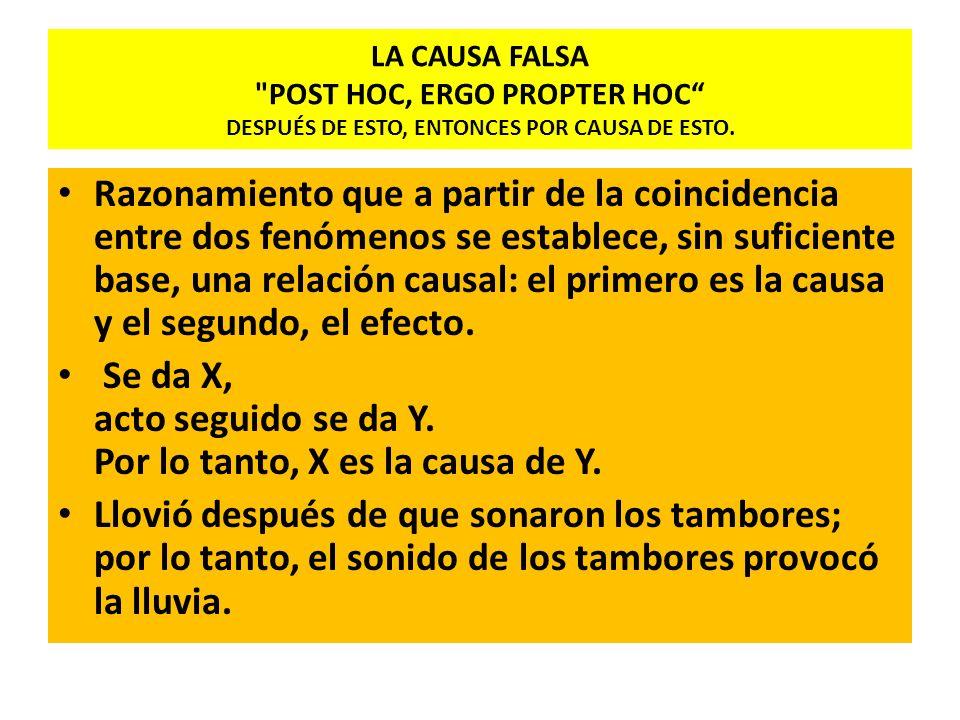 LA CAUSA FALSA