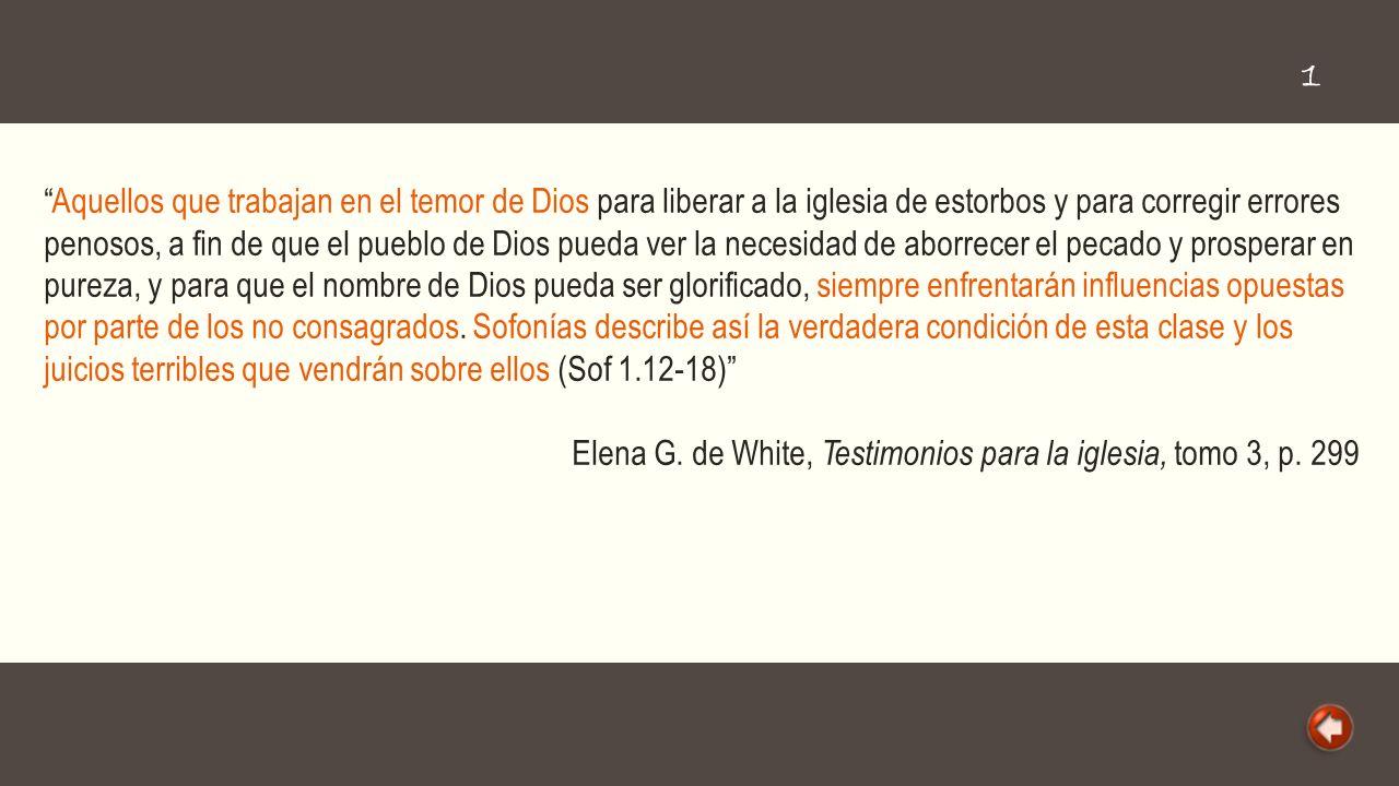 Cercano está el día grande de Jehová, cercano y muy presuroso (Sofonías 1:14); pero ¿dónde contemplamos el verdadero espíritu adventista.