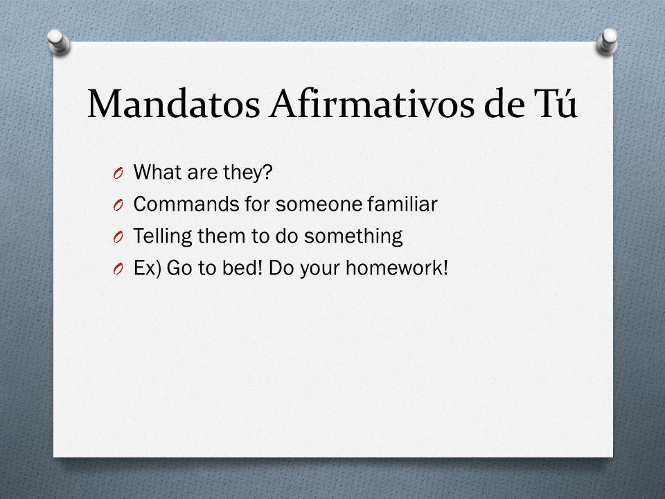 Repaso – How To Form Mandatos Afirmativos O Its simple.