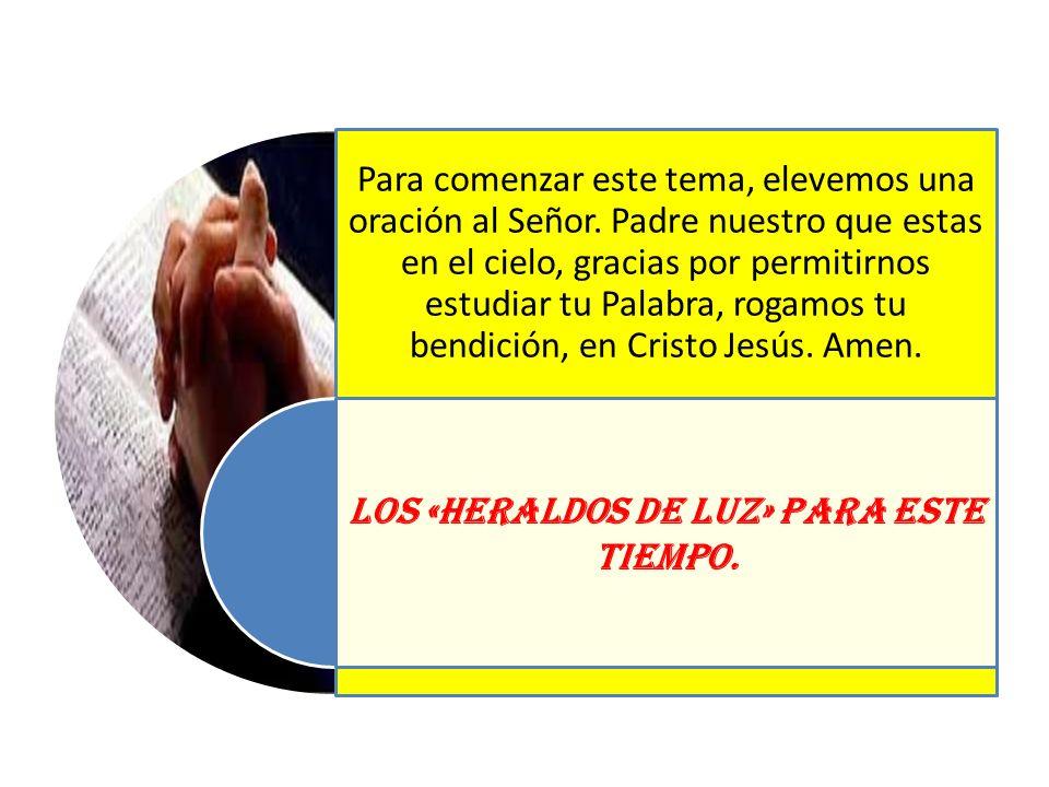Para comenzar este tema, elevemos una oración al Señor. Padre nuestro que estas en el cielo, gracias por permitirnos estudiar tu Palabra, rogamos tu b