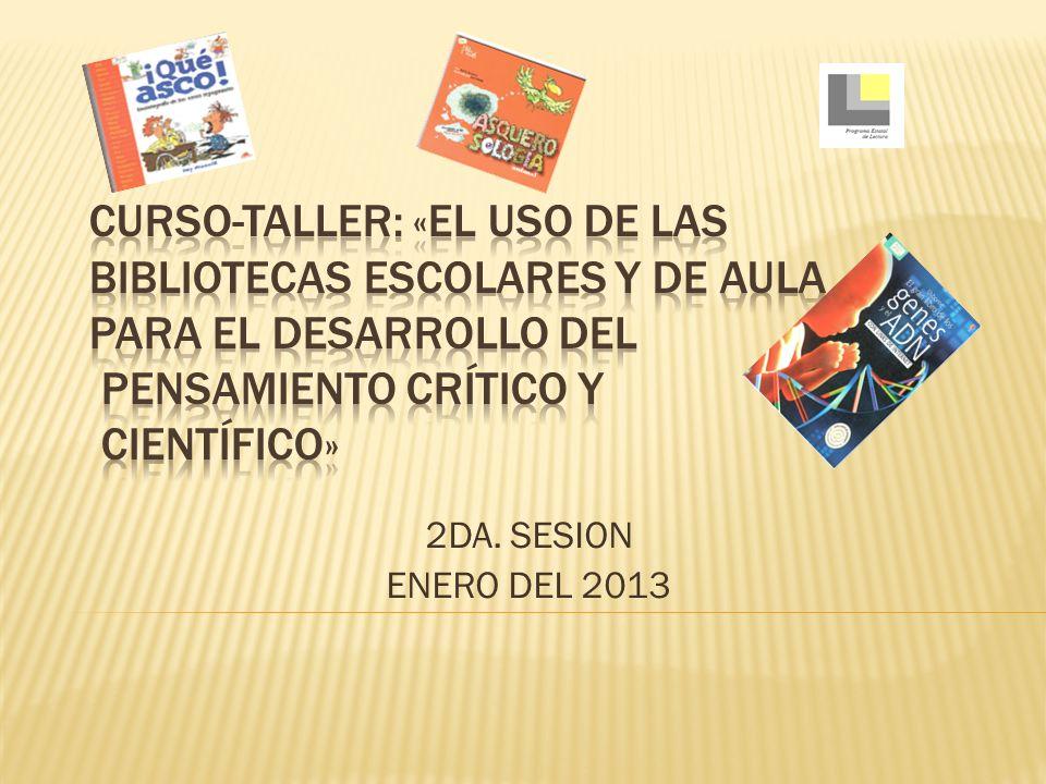 2DA. SESION ENERO DEL 2013