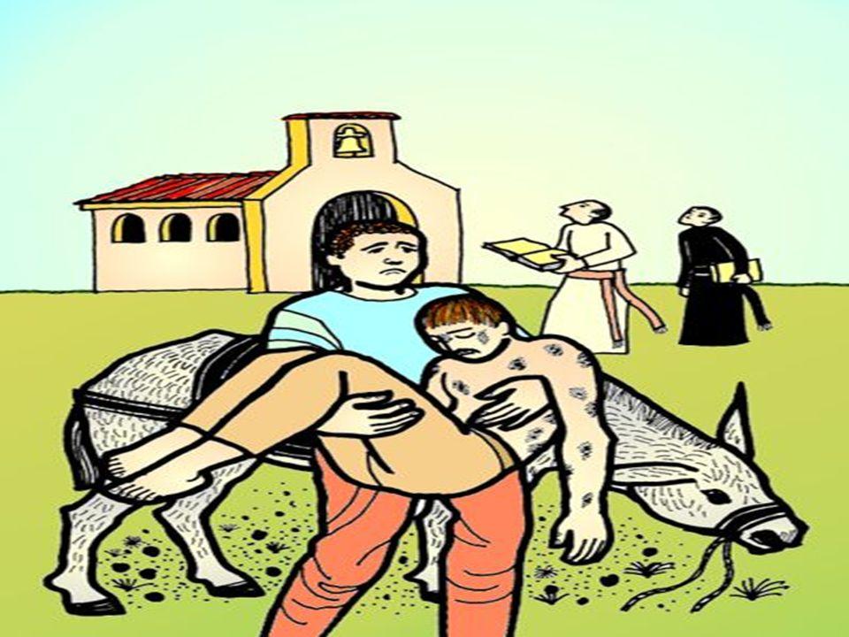 * La Parábola propone Tres PASOS para realizar el amor misericordioso: Ver, Tener compasión y Actuar...