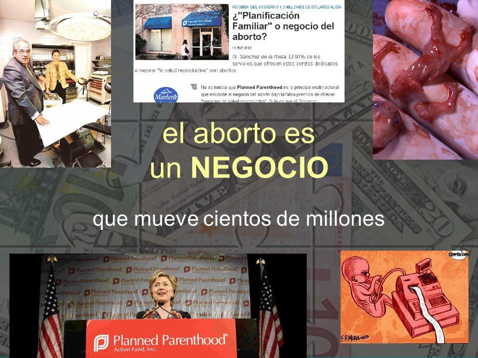 el aborto es un NEGOCIO que mueve cientos de millones