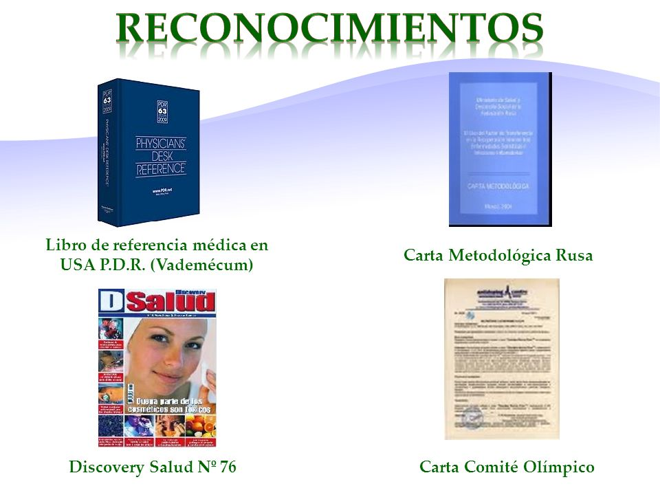 Libro de referencia médica en USA P.D.R. (Vademécum) Carta Metodológica Rusa Discovery Salud Nº 76Carta Comité Olímpico