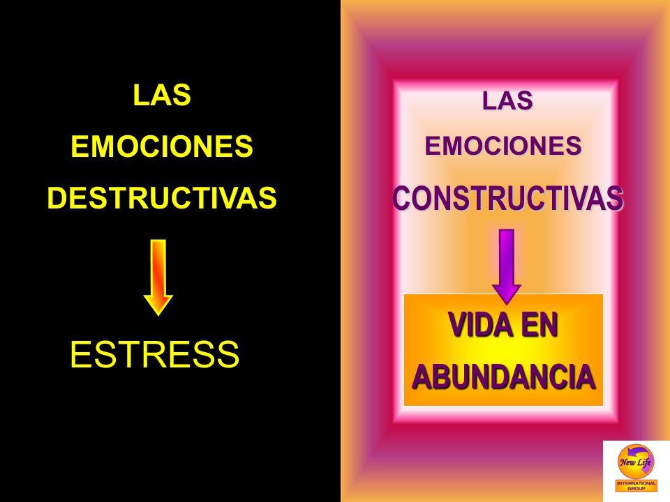 LASEMOCIONESDESTRUCTIVAS LASEMOCIONESCONSTRUCTIVAS ESTRESS VIDA EN ABUNDANCIA