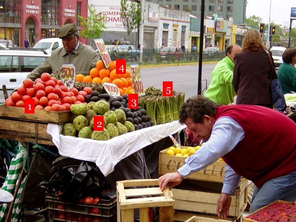 (los) tomates (las) chirimoyas (los) aguacates (los) esparragos (las) naranjas (los) limones