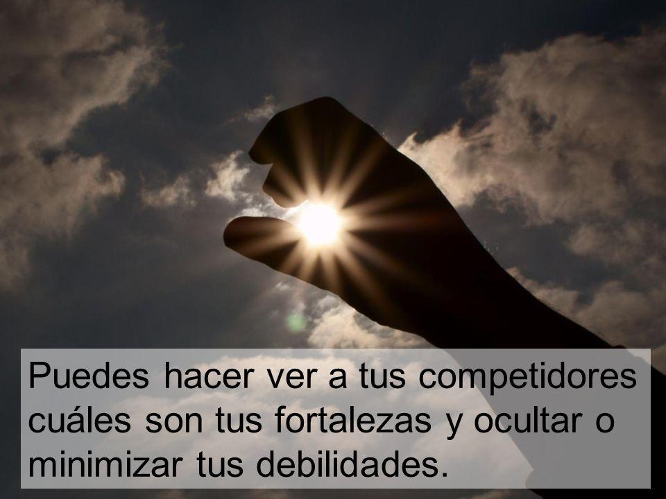 Puedes hacer ver a tus competidores cuáles son tus fortalezas y ocultar o minimizar tus debilidades.