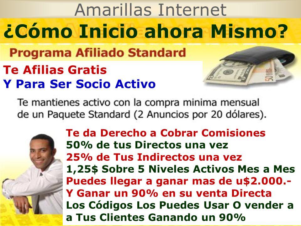 Amarillas Internet 10$ 5$ TÚ 10$ 5$ 10$ 5$ 10$ ¿Cómo Puedo Ganar Dinero?