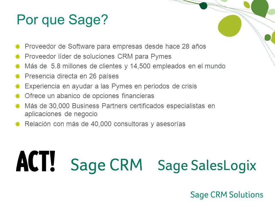 Proveedor de Software para empresas desde hace 28 años Proveedor líder de soluciones CRM para Pymes Más de 5.8 millones de clientes y 14,500 empleados