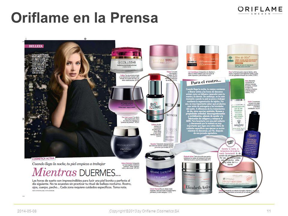Oriflame en la Prensa 2014-05-08Copyright ©2013 by Oriflame Cosmetics SA11