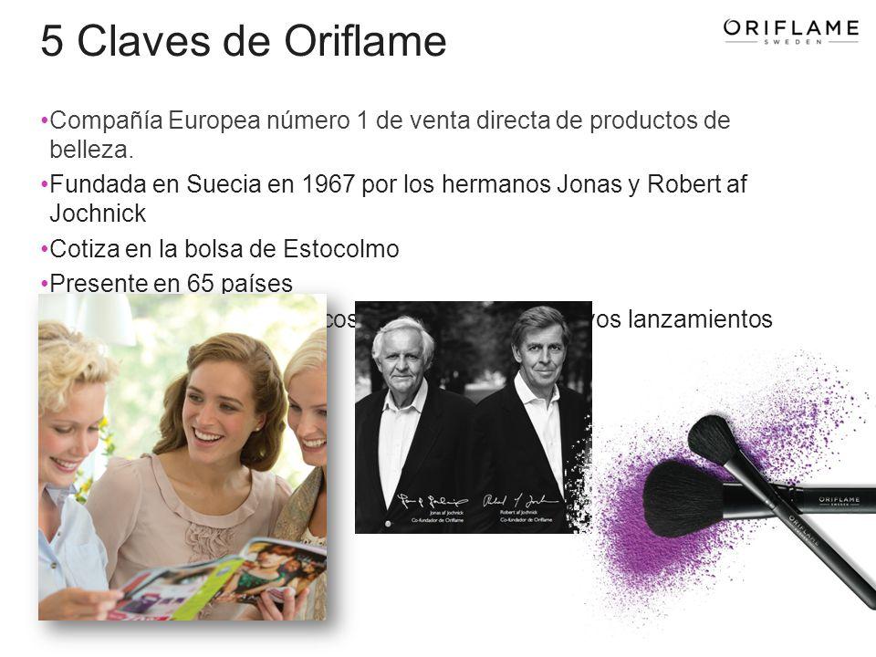5 Claves de Oriflame Compañía Europea número 1 de venta directa de productos de belleza.