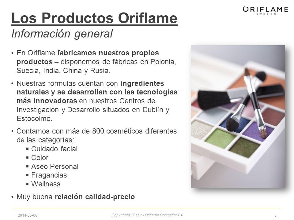 52014-05-08 Los Productos Oriflame Información general Copyright ©2011 by Oriflame Cosmetics SA En Oriflame fabricamos nuestros propios productos – disponemos de fábricas en Polonia, Suecia, India, China y Rusia.